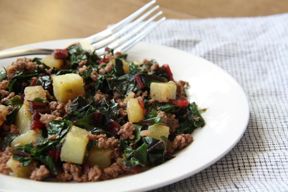 Bison Breakfast Skillet (Paleo, AIP, Low FODMAP)