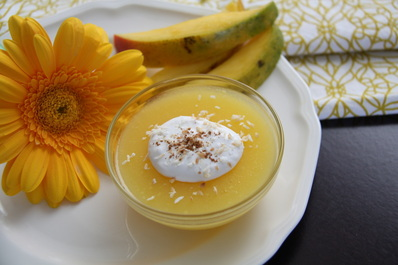 Coconut-Mango Pudding (Paleo, AIP)