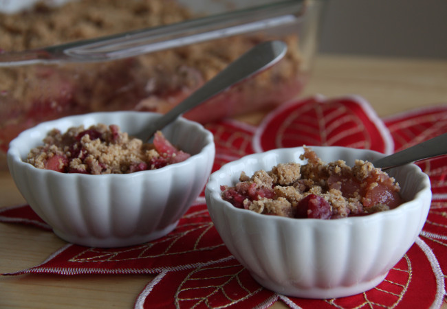 Cran-Apple Gingerbread Crumble (Paleo, AIP)