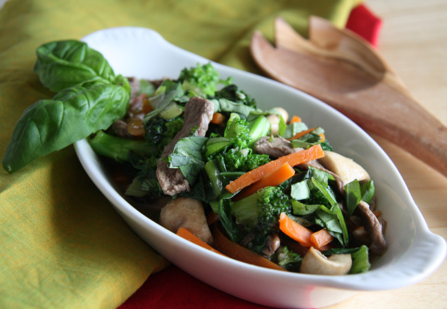 Beef and Greens Stir Fry (Paleo, AIP)