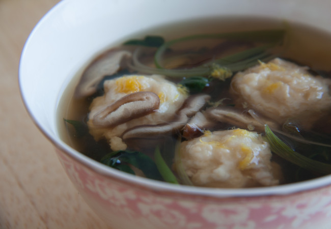 Fish Dumplings in Shiitake-Ginger Broth (Paleo, AIP, 21DSD, Whole30)