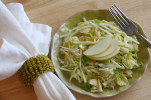 Tangy Turnip & Sprouts Slaw