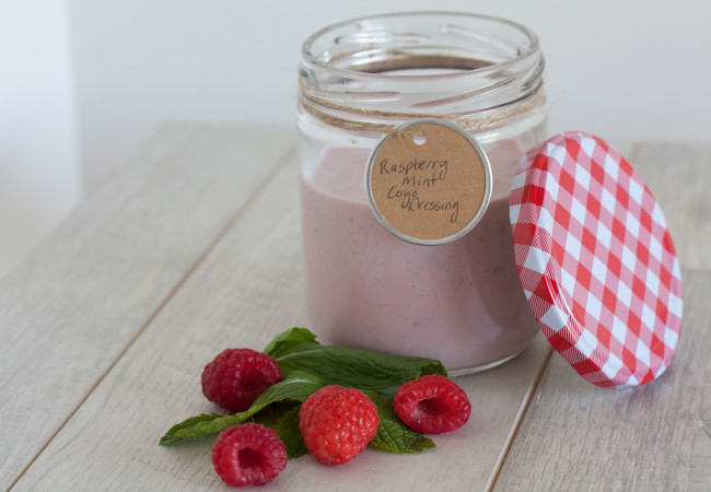 Raspberry-Mint COYO Dressing (Paleo, AIP)