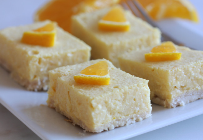 Orange Creamsicle Squares (AIP, Paleo)