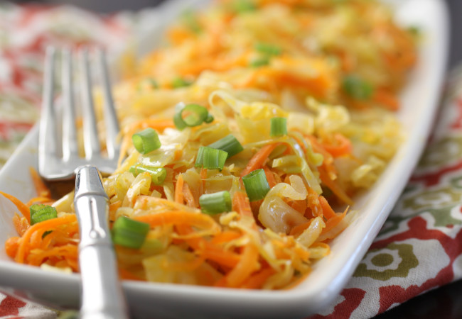 Ginger Fried Cabbage and Carrots (AIP, Paleo, Vegan)