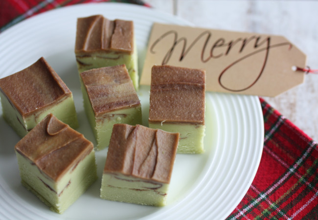 Mint-Chocolate Swirl Fudge (Paleo with AIP Modification)