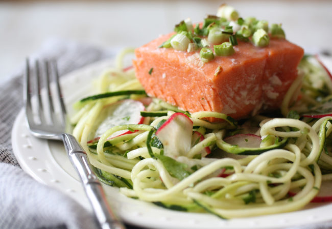 "Cold ""Noodle"" and Salmon Salad from The Autoimmune Wellness Handbook (AIP, Paleo, SCD)"